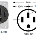 NEMA 14-50R 50-A Outlet