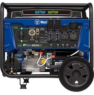 Dual-fuel generator WGen9500DF